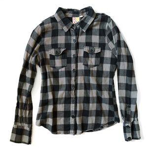 Roxy Buffalo Plaid Button Down Shirt